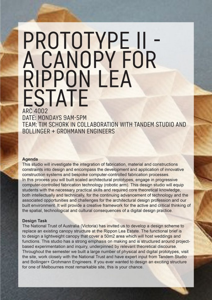 Prototype II - a canopy for Rippon Lea Estate