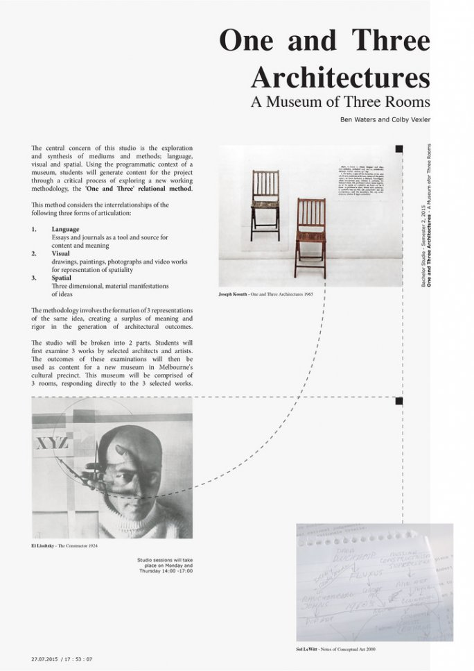 One and Three Architectures - A Museum of Three Rooms